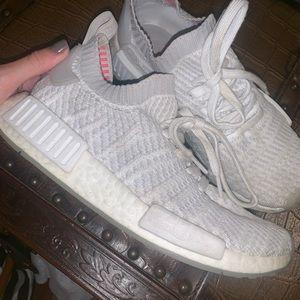 Adidas NMD R1 STLT Primeknit Sneaker (White)